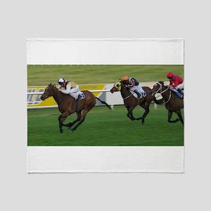 Race horses Throw Blanket