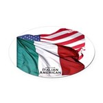 italianamerican Oval Car Magnet