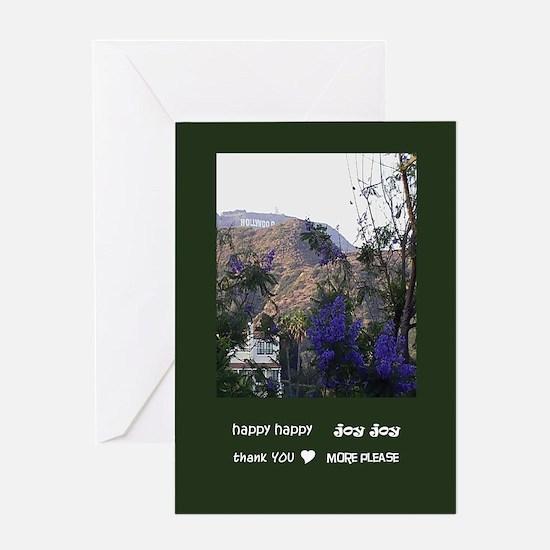 hhjj journal hooray 4 hollywood sign Greeting Card