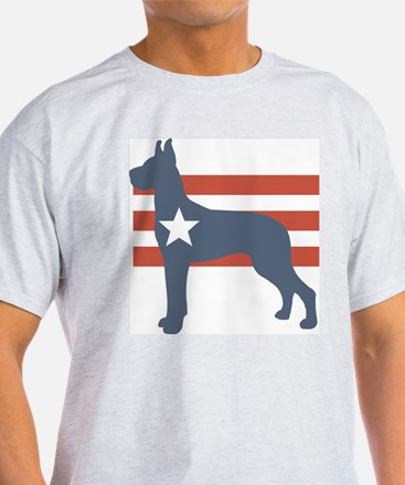 Patriotic Great Dane Ash Grey T-Shirt