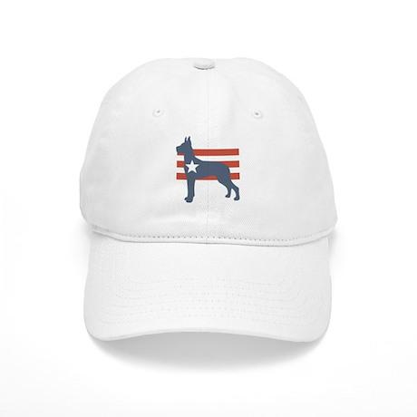 Patriotic Great Dane Cap