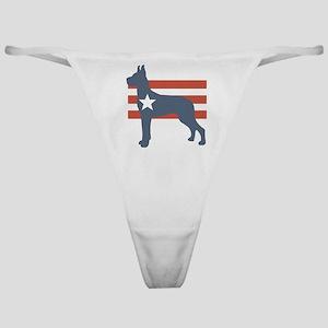 Patriotic Great Dane Classic Thong
