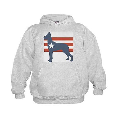 Patriotic Great Dane Kids Hoodie