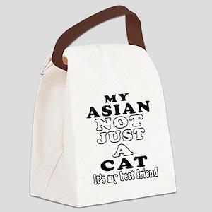 Asian Cat Designs Canvas Lunch Bag