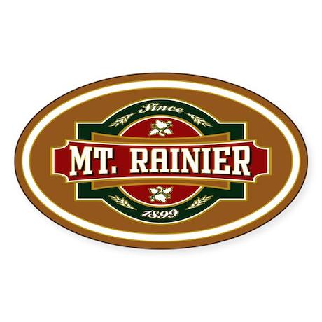 Mt. Rainier Old Label Sticker (Oval)