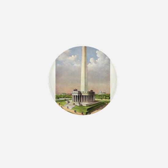 The National Washington Monument - 1885 Mini Butto