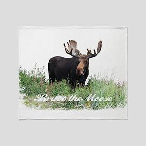 Bruce the Moose Throw Blanket