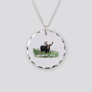 Bruce the Moose Necklace Circle Charm