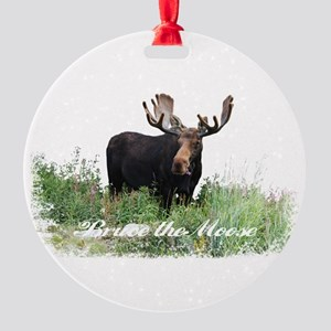 Bruce the Moose Round Ornament