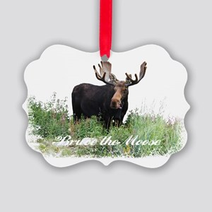 Bruce the Moose Picture Ornament