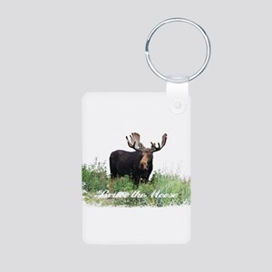 Bruce the Moose Aluminum Photo Keychain