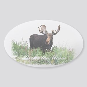Bruce the Moose Sticker (Oval)