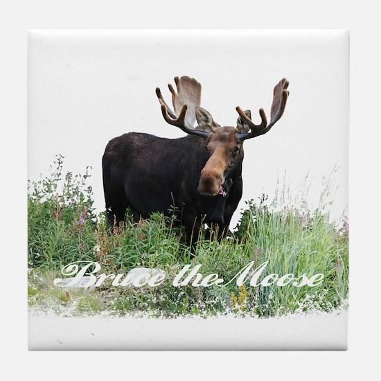 Bruce the Moose Tile Coaster