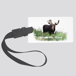 Bruce the Moose Large Luggage Tag