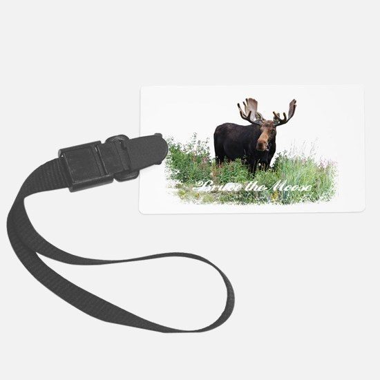 Bruce the Moose Luggage Tag