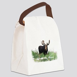 Bruce the Moose Canvas Lunch Bag
