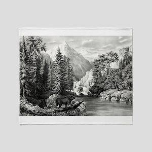 The mountain pass, Sierra Nevada - 1867 Throw Blan