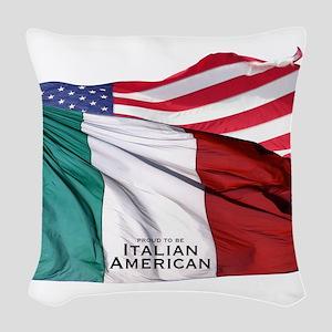 Italian American Woven Throw Pillow