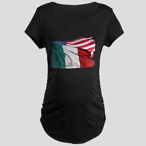Italian American Maternity Dark T-Shirt