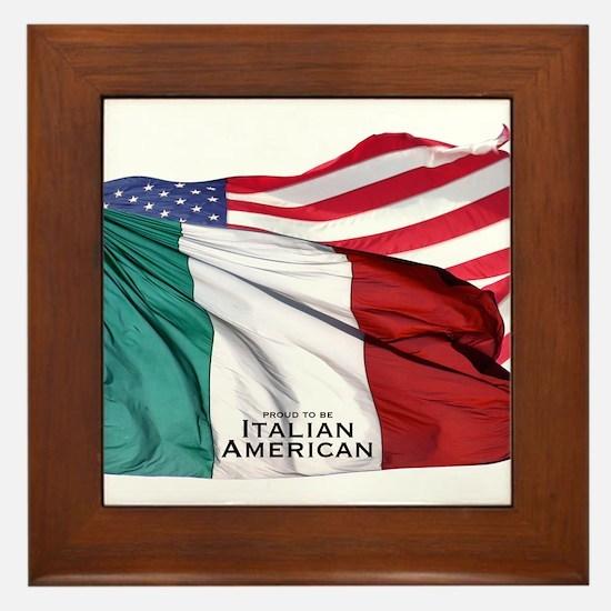 Italian American Framed Tile