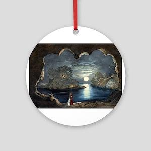 The magic lake - 1856 Round Ornament