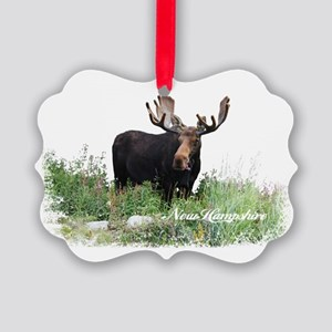 New Hampshire Moose Picture Ornament