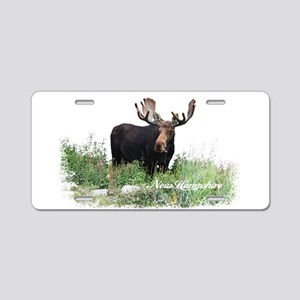New Hampshire Moose Aluminum License Plate