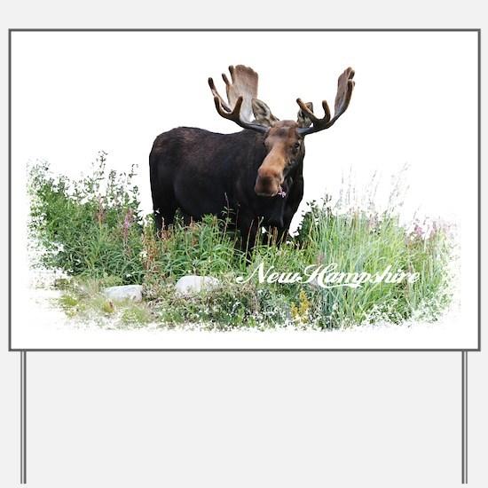 New Hampshire Moose Yard Sign