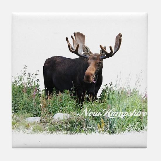 New Hampshire Moose Tile Coaster