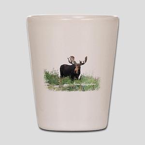 New Hampshire Moose Shot Glass
