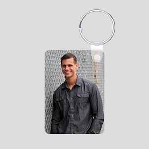Portrait Of A Man Aluminum Photo Keychain