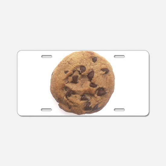 Chocolate Chip Cookie Aluminum License Plate