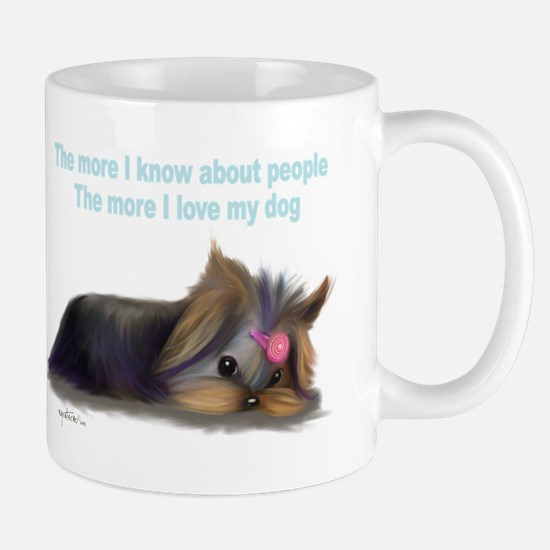 ByCatiaCho Yorkie L.Thinker Mug