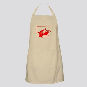 Stylized two red w frame peppers Apron