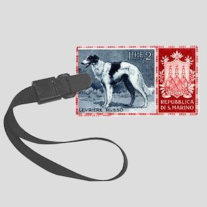 Vintage 1956 San Marino Borzoi Dog Postage Stamp L