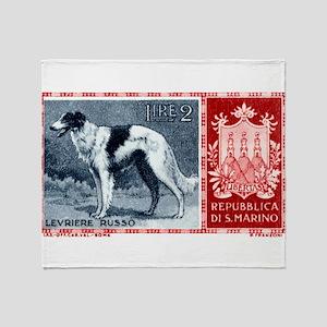 Vintage 1956 San Marino Borzoi Dog Postage Stamp T
