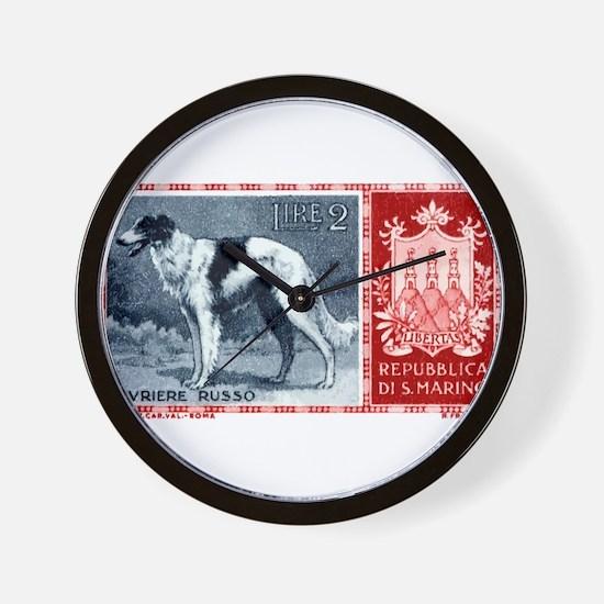 Vintage 1956 San Marino Borzoi Dog Postage Stamp W