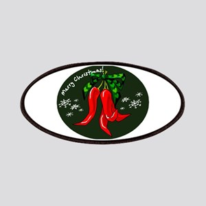 merry christmas red pepper design Patches