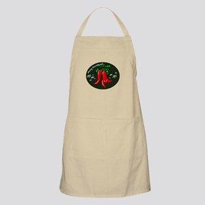 merry christmas red pepper design Apron