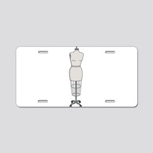 Dressmakers Mannequin Aluminum License Plate
