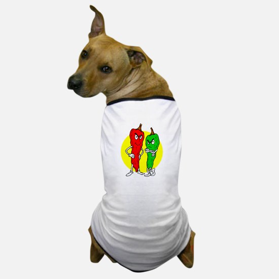 Pepper thugs red green w yellow ciricle Dog T-Shir