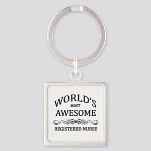 World's Most Awesome Registered Nurse Square Keych