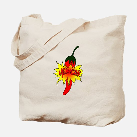 Pepper with text mexican graphic Tote Bag