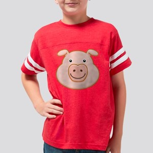 HappyPigFace3DrkT Youth Football Shirt