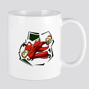 Peppers abstract square graphic Mug