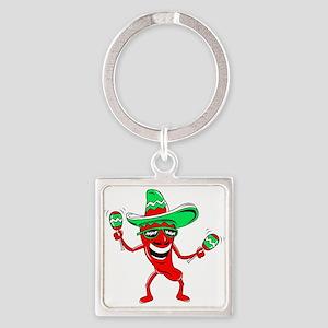 Pepper maracas sombrero sunglasses Keychains