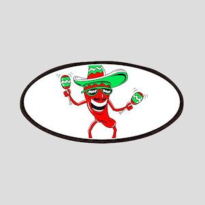 Pepper maracas sombrero sunglasses Patches