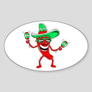 Pepper maracas sombrero sunglasses Sticker