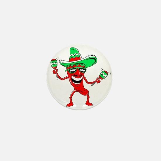 Pepper maracas sombrero sunglasses Mini Button