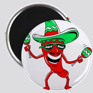 Pepper maracas sombrero sunglasses Magnet